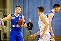 Zan Kosic of KK Rogaska during basketball match between Ilirija and Rogaska in Liga Nova KBM, Playoff for Champion, on March 10, 2018 in Hala Tivoli, Ljubljana, Slovenia. Photo by Ziga Zupan / Sportida
