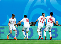 Ehsan Haji Safi (Iran) celebrates decisive goal <br /> Saint Petersburg 15-06-2018 Football FIFA World Cup Russia  2018 <br /> Morocco - Iran / Marocco - Iran <br /> Foto Matteo Ciambelli/Insidefoto