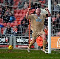 Photo: Jed Wee.<br />Blackpool FC v Bristol City. Coca Cola League 1. 21/01/2006.<br />Bristol's Steven Brooker celebrates his goal.