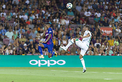 August 7, 2017 - Barcelona, Spain - Semedo of FC Barcelona and Reinaldo during the match between FC Barcelona vs Chapecoense, for the Joan Gamper trophy, played at Camp Nou Stadium on 7th August 2017 in Barcelona, Spain. (Credit: Urbanandsport / NurPhoto) (Credit Image: © Urbanandsport/NurPhoto via ZUMA Press)