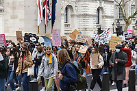 The 97% Women's march group to demand safety in the streets following the murder of Sarah Everard who was kidnarpped and later found murdered after after walking home from Clapham Common photo by Krisztian K Elek