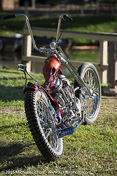 Invited builder Tom Fugle's custom Panhead on Day two of the Born Free Vintage Chopper and Classic Motorcycle Show at the Oak Canyon Ranch in Silverado, CA. USA. Sunday, June 29, 2014.  Photography ©2014 Michael Lichter.