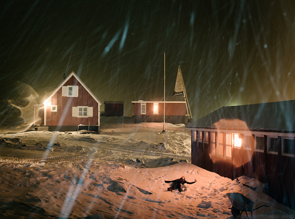 Isortoq just before Christmas. Life in and around the small Inuit settlement of Isortoq (population of 64), in East Greenland.