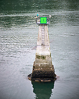 Route Marker 1 in Wrangell Narrows. Image taken with a Nikon D300 camera and 70-300 mm VR lens.