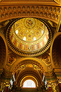 Interior of  St Stephen's Basilica, ( Szent Istvan Bazilika ) , Neo Classical building, Budapest, Hungary .<br /> <br /> Visit our HUNGARY HISTORIC PLACES PHOTO COLLECTIONS for more photos to download or buy as wall art prints https://funkystock.photoshelter.com/gallery-collection/Pictures-Images-of-Hungary-Photos-of-Hungarian-Historic-Landmark-Sites/C0000Te8AnPgxjRg