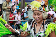A samba granny at the Dream Parade in Taipei.