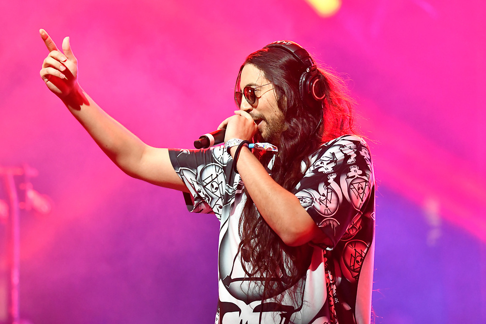 MANCHESTER, TENNESSEE - JUNE 15: Space Jesus performs onstage at The Other Tent during the 2019 Bonnaroo Arts And Music Festival on June 15, 2019 in Manchester, Tennessee