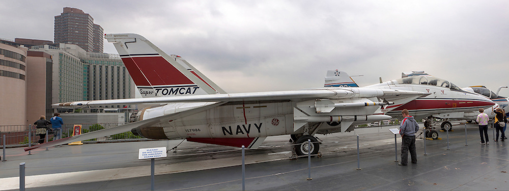 Grumman F-14 Tomcat at the Intrepid Sea, Air & Space Museum is a military and maritime history museum with a collection of museum ships in New York City.