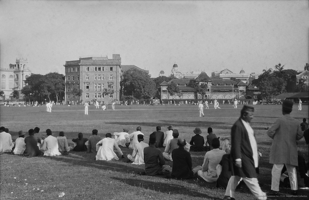 A Crowd Watching Cricket, Bombay, India, 1929