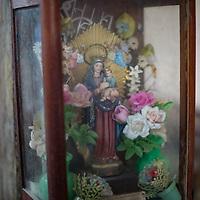 Statues in the colonial churches of Erandique, Lempira, Honduras