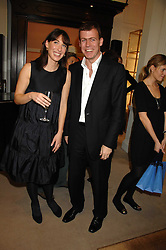 SAMANTHA CAMERON and PADDY BYNG CEO of Smythson at a party to celebrate the launch of the book 'Long Way Down' by Ewan McGregor and Charley Boorman held at Smythson, 40 New Bond Street, London W1 on 19th November 2007,<br /><br />NON EXCLUSIVE - WORLD RIGHTS