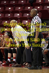 30 January 2015:  Michael Brooks stands near Kevin Dillard during an NCAA women's basketball game between the Bradley Braves and the Illinois Sate Redbirds at Redbird Arena in Normal IL