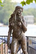 Henley-On-Thames, Berkshire, UK., Saturday,  08/08/2020, The Henley Ama, Mermaid statue,  [Mandatory Credit © Peter Spurrier/Intersport Images],