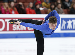 February 7, 2019 - Los Angeles, California, U.S - Brendan Kerry of Australia competes in the Men Short Program during the ISU Four Continents Figure Skating Championship at the Honda Center in Anaheim, California on February 7, 2019. (Credit Image: © Ringo Chiu/ZUMA Wire)
