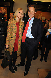 LADY ALEXANDRA GORDON-LENNOX and her father the EARL OF MARCH at a party to celebrate the launch of the book 'Long Way Down' by Ewan McGregor and Charley Boorman held at Smythson, 40 New Bond Street, London W1 on 19th November 2007,<br />