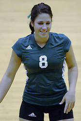 27 October 2006: Titan Colleen Ernst. The Bears won the match 3 games to 1. The match between the Washington University Bears and the Illinois Wesleyan Titans took place at Shirk Center on the IWU campus in Bloomington Illinois.<br />