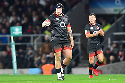 November 11, 2017 - London, United Kingdom - England's Harry Williams with England's Danny Care in the background during Old Mutual Wealth Series between England against Argentina at Twickenham stadium , London on 11 Nov 2017  (Credit Image: © Kieran Galvin/NurPhoto via ZUMA Press)