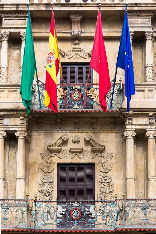 Ayuntamiento town hall in Plaza Consistorial (Udaletxe Plaza)   in Pamplona, Navarre, Northern Spain