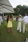 HEATHER KERZNER AND LADY VICTORIA GETTY, Guy Leymarie and Tara Getty host The De Beers Cricket Match. The Lashings Team versus the Old English team. Wormsley. ONE TIME USE ONLY - DO NOT ARCHIVE  © Copyright Photograph by Dafydd Jones 66 Stockwell Park Rd. London SW9 0DA Tel 020 7733 0108 www.dafjones.com