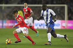 December 1, 2017 - Porto, Porto, Portugal - Benfica's Argentinian forward Franco Cervi (L) with Porto's Cameroonian forward Vincent Aboubakar (R)  during the Premier League 2016/17 match between FC Porto and SL Benfica, at Dragao Stadium in Porto on December 1, 2017. (Credit Image: © Dpi/NurPhoto via ZUMA Press)