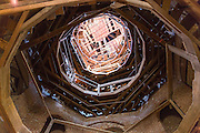 Octagon dome interior of unfinished Longwood antebellum plantation mansion house at Natchez, Mississippi, USA