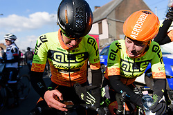 Race winner, Janneke Ensing catches her breath at Le Samyn des Dames 2018 - a 103 km road race on February 27, 2018, from Quaregnon to Dour, Belgium. (Photo by Sean Robinson/Velofocus.com)