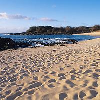 Hawaii, Molokai, Kaupoa Beach, sunset