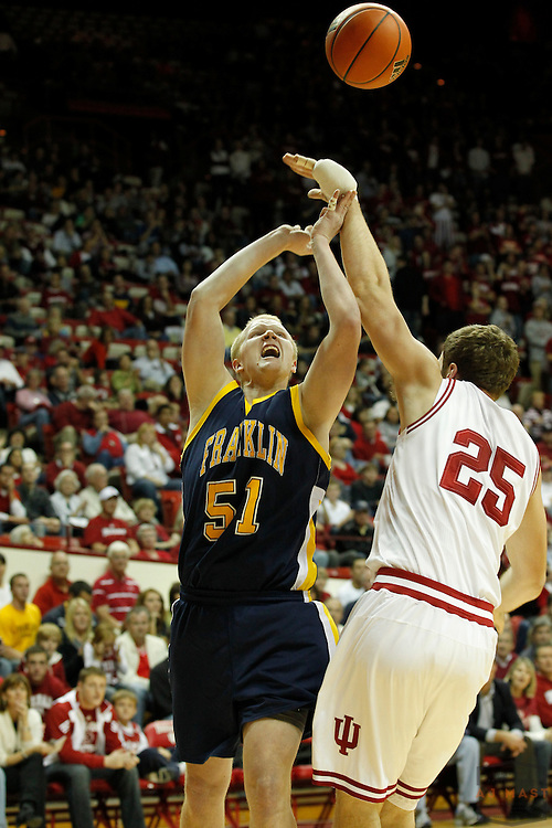 03 November 2010: Franklin's Zach Merschbrock (51) as the Indiana Hoosiers played the Franklin College Grizzlies in a preseason college basketball game in Bloomington, Ind.