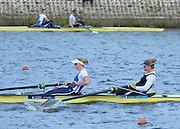 Reading. United Kingdom.  GBR W2-. Caragh MCMURTY and Zoe LEE, in the opening strokes of the morning time trial. 2014 Senior GB Rowing Trails, Redgrave and Pinsent Rowing Lake. Caversham.<br /> <br /> 10:43:55  Saturday  19/04/2014<br /> <br />  [Mandatory Credit: Peter Spurrier/Intersport<br /> Images]