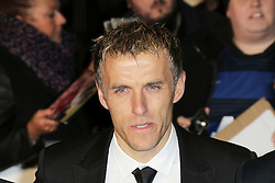© Licensed to London News Pictures. Former Manchester United footballer Phil Neville  attends The Class of 92  World Film Premiere at The Odeon West End, Leicester Square, London on 01 December 2013. Photo credit: Richard Goldschmidt/LNP
