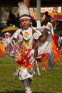 Powwow, kids, Fancy Shawl Dancer, Crow Fair, Crow Indian Reservation, Montana.