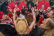 World Roots Acapella are amongst the Many weird activities in teh circus field - The 2017 Glastonbury Festival, Worthy Farm. Glastonbury, 24 June 2017