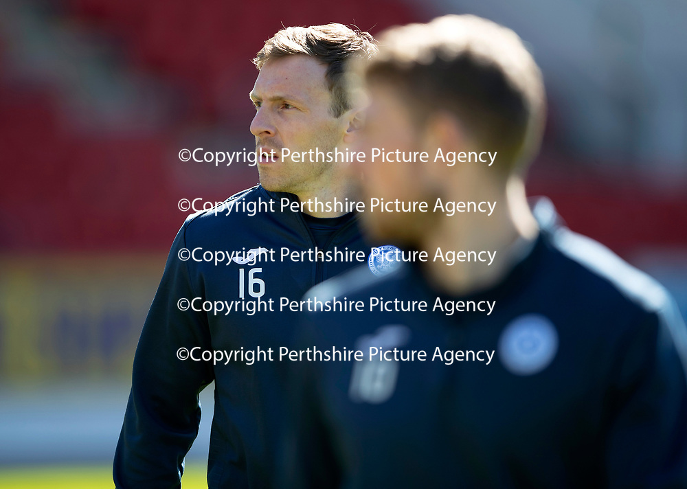 St Johnstone Training…10.05.18<br />David McMillan pictured during training ahead of the final game of the season against Ross County<br />Picture by Graeme Hart.<br />Copyright Perthshire Picture Agency<br />Tel: 01738 623350  Mobile: 07990 594431