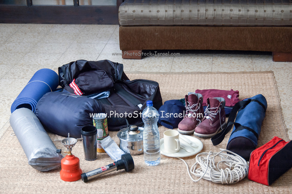 gear and equipment needed for a camping trip