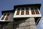 Greece, Macedonia, Castoria; Exterior of the Cassara Mansion