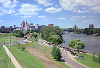 Riverfront Park on Connecticut River from Charter Oak Landing, Hartford, CT