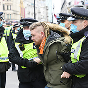 London March 20th 2021 , Police arrests people as soon as the march started. 2021-03-20
