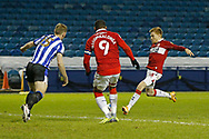 2-1, GOAL scored by Middlesbrough forward Duncan Watmore (18) during the EFL Sky Bet Championship match between Sheffield Wednesday and Middlesbrough at Hillsborough, Sheffield, England on 29 December 2020.