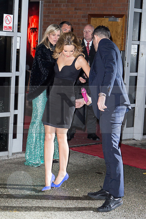 © Licensed to London News Pictures . 27/03/2014 . Manchester , UK . Robin Van Persie arrives at a gala dinner at Manchester United Football Club in support of United for Colitis , in aid of Crohn's And Colitis UK . Photo credit : LNP
