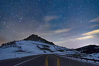 I wouldn't normally set my tripod up in the middle of a steep and slick mountain highway. But at this time of night there was no traffic at all.