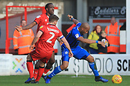 Calvin Andrew wins the ball during the EFL Sky Bet League 1 match between Walsall and Rochdale at the Banks's Stadium, Walsall, England on 2 February 2019.