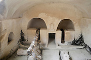 Beit Guvrin-Maresha National Park is an ancient site in central Israel that survived many historical eras. Beit Guvrin is noted for its man-made caves. Hellenistic period Ancient Olive oil extraction press at Tel Marsha