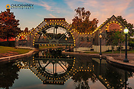 Louis Armstrong Park at dusk in the Treme in New Orleans, Louisiana, USA