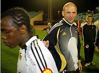 Fotball , 17. januar 2007 ,  Maspalonas , Grand Canaria , Rosenborg - Rapid de Bucarest  <br /> Knut Tørum og , Rosenborg og<br /> Abdoulrazak Traoré ,  Abdoulrazak Traore, Rosenborg