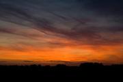 Sunset over English countryside, United Kingdom
