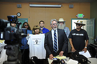 At the Chinatown Learning Center on Wednesday, March 2nd, Attorney Anthony Prince briefs members of the press on the state of a lawsuit filed on the behalf of the homeless in Salinas.