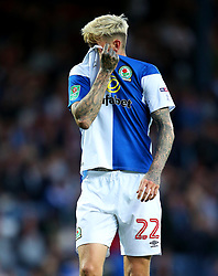 Ben Gladwin of Blackburn Rovers looks dejected - Mandatory by-line: Matt McNulty/JMP - 23/08/2017 - FOOTBALL - Ewood Park - Blackburn, England - Blackburn Rovers v Burnley - Carabao Cup - Second Round