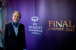 CARDIFF, ENGLAND - Tuesday, February 21, 2017: Karen Espelund, UEFA Chair of Women's Football Committee in Cardiff Library to promote the men's and women's UEFA Champions League Finals being staged in Cardiff this June. (Pic by Paul Greenwood/Propaganda)