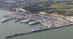 Image ©Licensed to i-Images Picture Agency. Aerial views. United Kingdom.<br /> Dover Docks, Kent. Picture by i-Images