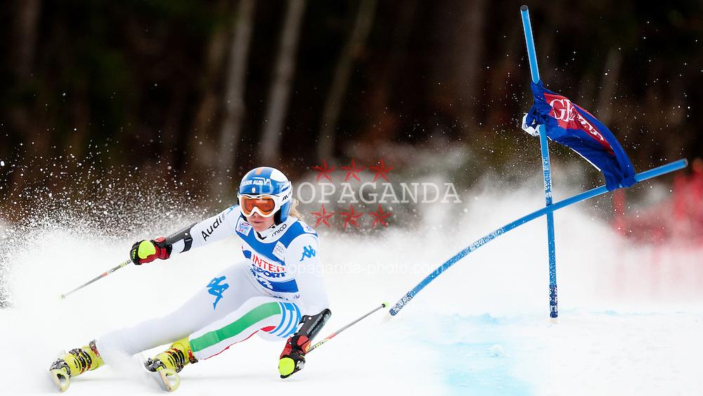 21.01.2012, Podkorn, Kranjska Gora, SLO, FIS Weltcup Ski Alpin, Kranjska Gora, Damen, Riesentorlauf, 1. Durchgang, im Bild Denise Karbon of Italy during 1st Run of 48th Golden Fox Audi Alpine FIS Ski World Cup Ladies Giant Slalom, on January 21, 2012 in Podkorn, Kranjska Gora, Slovenia. EXPA Pictures © 2012, PhotoCredit: EXPA/ Sportida/ Matic Klansek Velej..***** ATTENTION - OUT OF SLO *****